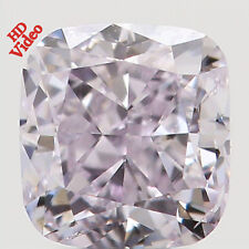 Natural Loose Diamond Fancy Pink Color Cushion SI1 Clarity 3.40 MM 0.31 Ct L2286
