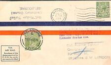 AUSTRALIA FLIGHT COVER London - Melbourne Race Air Mail 1934 {samwells}Y229