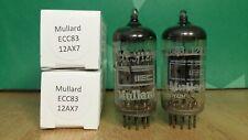 Pair of Mullard ECC83 12AX7 I63 1965 Vacuum Tubes