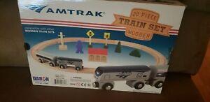 HD Daron TY045 Amtrak Wooden 20 Piece Train Set