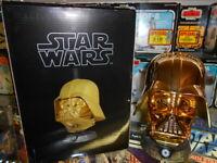 Star Wars 2009 Gentle Giant Darth Vader PGM .45 Scale Replica Gold Mini Helmet