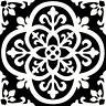 WallPops Bathroom/Kitchen Gothic Peel & Stick Floor Tiles BlackWhite 10pk FP2475