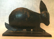 Country-Primitive Style Tin Rabbit Sculpture Rustic Figurine Silhouette