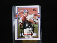 HOF JOHN ELWAY 1989 Topps SIGNED AUTOGRAPHED CARD BRONCOS Authenticated Coa