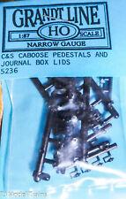 Grandt Line HOn3 #5236 C&S Caboose Pedestals & Journal Box Lids (Plastic)