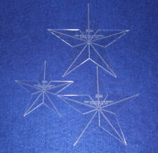 """Laser Cut Quilt Templates- 3 Piece Star - Clear Acrylic 1/8"""""""