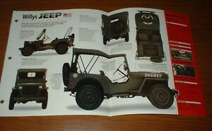 ★★1942 WILLYS FORD GPW JEEP ORIGINAL IMP BROCHURE SPECS 42 43 44 45 WWII US ARMY