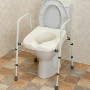 NRS Mowbray Bathroom Disabled Seat Frame Raised Support Height Width Adjustable