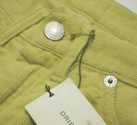 90's DRIES VAN NOTEN Vintage Presley Velvet Pants Trousers Jeans 36 S Yellow
