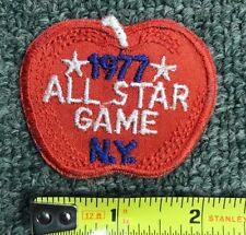 1977 VINTAGE MLB ALL-STAR GAME EMBROIDERED PATCH *BIG APPLE* NEW YORK M 10717