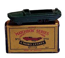 Matchbox Moko Lesney No 55 Army Dukw Amphibious Vehicle Boat Model Boxed