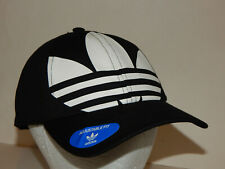 Adidas Originals Big Trefoil Relaxed Hat / Cap Black/White Strapback CM3916 Mens