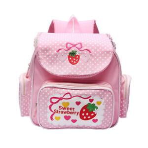 Lolita Girls  Kawaii Backpack School Bag JK Uniform Pink Strawberry Satchel