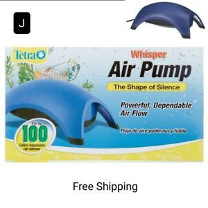 New, Tetra Whisper Air Pump 60 To 100 Gallons, For Aquariums, Powerful Airflow