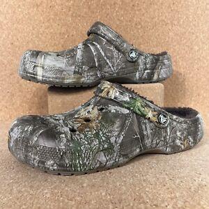 Crocs Realtree Winter Edge Lined Clogs Sandals Casual Men's 205378-280 Size 11