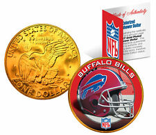 BUFFALO BILLS NFL 24K Gold Plated IKE Dollar US Coin *OFFICIALLY LICENSED*