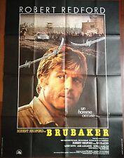 Affiche cinéma originale  Brubaker format 120 x 160  Robert Redford