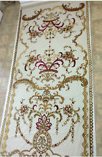 Italian Embroidered Ready Made Sheer Neron Wine Curtains