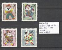 Berlin 1970 Wohlfahrt: Marionetten MiNr. 373-376 postfrisch