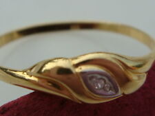 attrayant 333 Bague en or avec brillant RECOUVERT bijoux