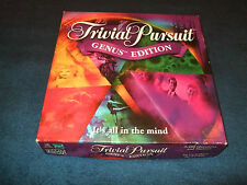 TRIVIAL PURSUIT GENUS  EDITION FAMILY BOARD GAME BY PARKER 2000
