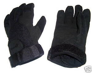 ARMY SPECIAL OPS GLOVES MENS XL BLACK Gents tough Military Soldier heavy duty