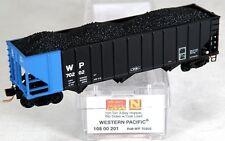 N Scale 100 Ton 3-Bay Hopper w/Load - Western Pacific #70202 - MTL #10800201
