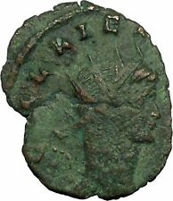 GALLIENUS son of Valerian I 265AD Ancient Roman Coin Peacefull Mars Cult  i34777