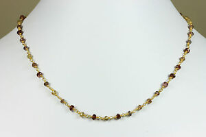 Sapphire Necklace Tundra Natural Beaded Chain 14k gold fill Tundru  18 19 inch