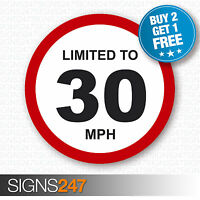 LIMITED TO 30 MPH Vehicle Speed Restriction Printed Vinyl Car Van Sticker 80mm