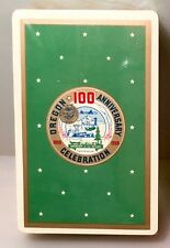 Vintage Mid Century Sealed W/ Tax Stamp Oregon 100 Anniversary Deck Of Cards