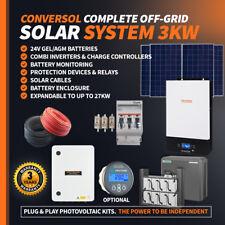 3kW Solar Fuera Red Batería AGM, 24V/230V Sistema. inversor. los paneles solares de 6x 1710W
