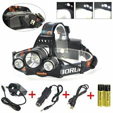 5000 LM 3 x CREE XM-L T6 DEL Zoom Headlight Lampe Rechargeable Head Torch