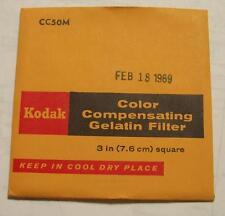 Kodak Color COMPENSADOR GELATINA Filtro N º CC50M 7.6cm OR 7.6cm Cuadrado
