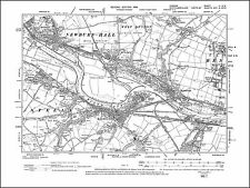 Old Ordnance Survey Map Norham Berwick upon Tweed Ancroft  Area 1864 Godfrey Edt