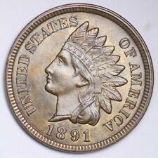 1891 Indian Head Small Cent CHOICE BU FREE SHIPPING E118 T