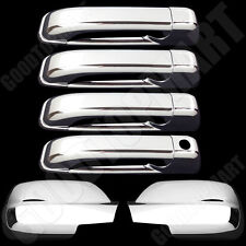 Chrome Full Mirror Door handles covers for JEEP Grand Cherokee 05-10