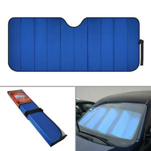 Foldable Jumbo Car Window Cover Sun Shade Auto Visor - Blue Foil Relfective