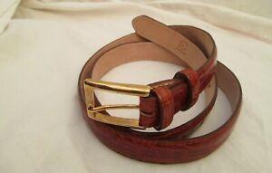 Authentique ceinture en cuir croco véritable COLOMBO vintage à saisir