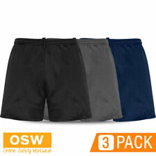 3 X MENS CIRCUIT GYM CROSS FIT WORK OUT STRETCH COMFORT SHORTS - BLACK/NAVY/GREY