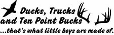 Ducks Trucks Ten Point Bucks Little Boys Made Of Wall Art Decal Hunting Antlers