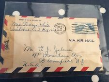 Canal Zone Cristobal 27.12.1943 censor opened airmail to Bloomfield NJ USA