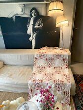 rideau ancien Nap III Coupon Lin Tissu Antique Victorian Linnen fabric Curtain