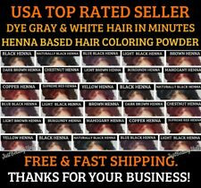 DARK BROWN HENNA HAIR DYE POWDER 6 SACHETS 10G ECH 13 COLORS MEN&WOMEN
