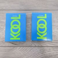 Vintage 1993 Kool Cigarettes Deck Promotional Playing Cards Blue Green 2 PACKS