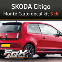 Skoda Citigo Monte Carlo decal set FOR 3 DOOR - Also fits UP, Mii
