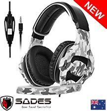 SADES SA-810 Xbox one PS4 Multi Platform Gaming Headset Mic Chat Camouflage NEW