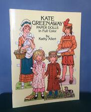 Vintage Kate Greenaway Paper Dolls Book ~ By Kathy Allert ~ Complete & Uncut ~