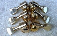 SET OF Gold 3 x 3 KEYSTONE BUTTON ROTOMATIC GUITAR TUNERS For LP Custom SG