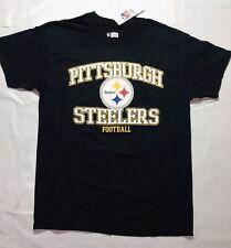 NEW Pittsburgh Steelers Vintage NFL Shirt Black Large NWT